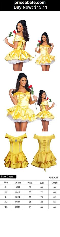 Women-Costumes: Adult Belle Princess Ladies Sexy Fancy Dress Fairytale Party Costume Outfit - BUY IT NOW ONLY $15.11