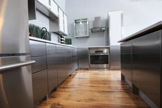 Stainless Steel Kitchen Cabinets, Kitchen Design, Gardening, Interiors, Contemporary, Home Decor, Steel, Cooking, Decoration Home