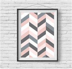 Blush Poster Scandinavian Print Geometric Art by PrintAvenue