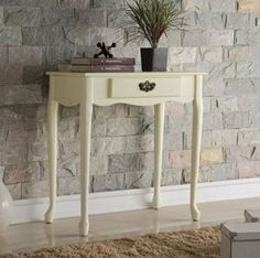 Cream Pine 2 Drawer Console Table - Ideal for the Hallway and Living Room Console Table, Entryway Tables, Pine, Drawers, Lounge, Cream, Living Room, Furniture, Home Decor