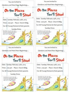 Oh the Places You'll Stand New Beginnings invitations