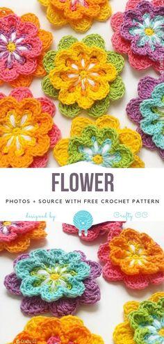 Flower Free Crochet Pattern - Free Crochet Patterns