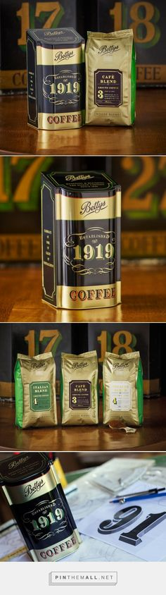 Bettys Coffee Caddy & House Blends Packaging - http://www.packagingoftheworld.com/2016/01/bettys-coffee-caddy-house-blends.html