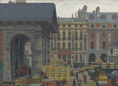 'Covent Garden' by Charles Ginner, 1932 (oil on canvas)