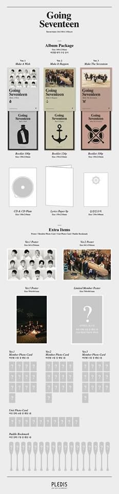 Seventeen 3rd Mini Album 'Going Seventeen' Album Details  2016.12.05 0AM RELEASE.  #Seventeen #Going_Seventeen #붐붐 #BOOMBOOM -- Well, I don't have money and I'm a poor student so.. /cries*/