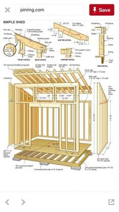 Goat shed plans diy. Shed plans that are designed to be easy to build from and a. - Goat shed plans diy. Shed plans that are designed to be easy to build from and a… - Shed Plans 12x16, Wood Shed Plans, Shed Building Plans, Diy Shed Plans, Building Ideas, 10x12 Shed Plans, Lean To Shed Plans, Building Homes, Building Design