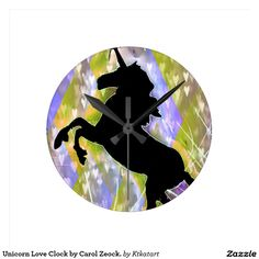 Unicorn Love Clock by Carol Zeock.