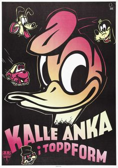 Swedish theatrical poster of Donald Duck.