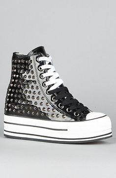 #karmaloop #soshoeme  Use rep code:XLOOP for 20% off  Retail:$365.00  The Super Top Sneaker in Black Patent and Studs by iiJin