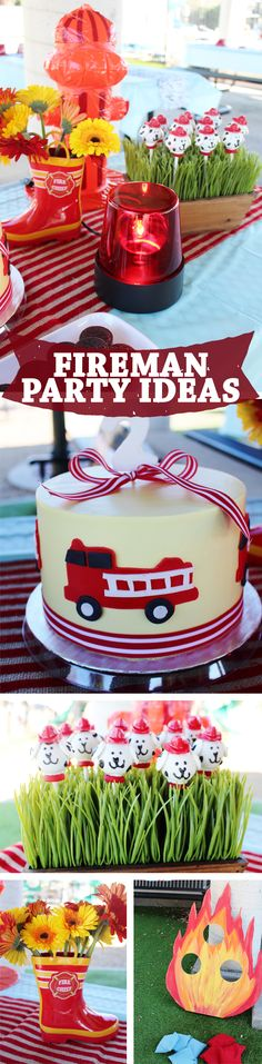 See more fireman party ideas on our blog!!  Firetruck party ideas