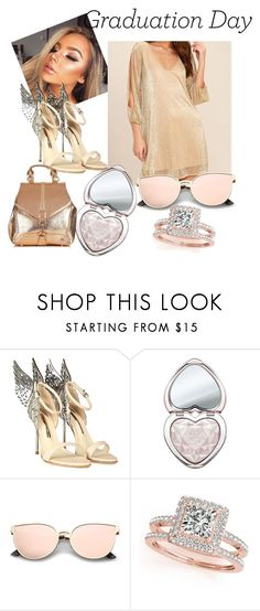 """Highlight brighter than your future!"" by stay-gold4 ❤ liked on Polyvore featuring Sophia Webster, Too Faced Cosmetics and Allurez"