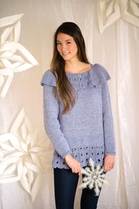 Frosted Glass Sweater - A #free pattern from Love of Knitting's Winter 2014 Issue