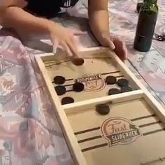 What a great game. Simple yet competitive! People are crazy over this, a new and exciting game for family and friends. Features: Fast Slingpuck Board Game - A reversible wooden board games: a fast tr 5 Minute Crafts Videos, Craft Videos, Games For Kids, Activities For Kids, Family Games, Diy And Crafts, Crafts For Kids, Hockey Games, Ice Hockey