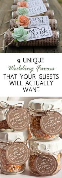 Love the 'Thanks for Popping By' ones Wedding favors, wedding favor ideas, DIY wedding favors, frugal wedding schedules, popular pin, DIY wedding, wedding tips, wedding hacks, #weddingideas #weddingtips