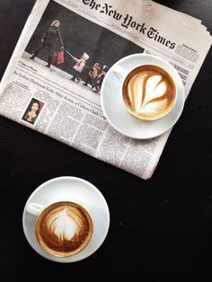 Coffee and The New York Times. I love my subscription to the Times, it's like having civilization delivered to my doorstep every morning. It's a great part of our morning basket. My children have learned so much from reading a morning newspaper.