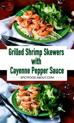 Grilled #Shrimp Skewers with #Cayenne #Pepper Sauce   #easymeals #quickappetizers #partyfood