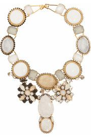 VICKISARGE Beatrix gold-plated multistone necklace