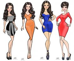 my cousin www.ritalux.com illustrations for Kardashian Khaos store in Mirage…