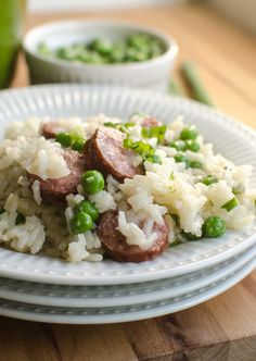 One-Pot Sausage, Rice, and Peas is an easy main dish that the whole family will love, and can be on your table in under 30 minutes.