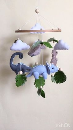Boy Mobile, Baby Crib Mobile, Baby Mobile Felt, Boy Nursery Themes, Baby Boy Nurseries, Baby Cribs, Dinosaur Nursery, Jungle Nursery, Baby Room Decor