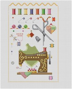 Cross stitch pattern for the home: Points and Hints - Crochet and easy embroidery