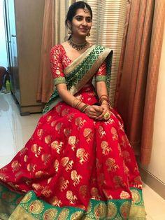 Silver Jewellery Design For Men Lehenga Saree Design, Half Saree Lehenga, Lehnga Dress, Indian Lehenga, Lehenga Designs, Bridal Lehenga, Half Saree Designs, Sari Blouse Designs, Dress Indian Style
