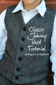 Elegance & Elephants: Elegance & Elephants - Classic Johnny Vest Tutorial