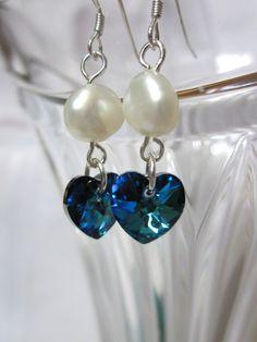 Bermuda Blue Crystals and Pearls