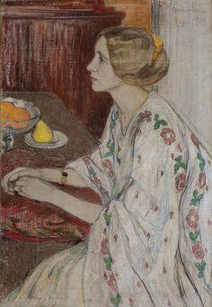 untitled picture by Elena Kiseleva (1878-1974), Russian (letsolgasidorova)