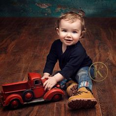 Happy 1st birthday Jackson!  I loved spending time with you and your mommy today. #firstbirthday #truck #red #boots #jeans #curls #blueeyes #posepatch
