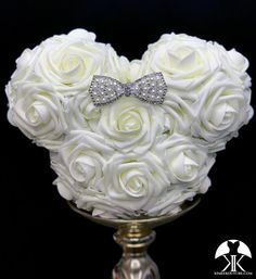 IVORY MICKEY Flower Ball With Rhinestone PEARL Bow BROOCH. Mickey Bridesmaids Bouquet. Mickey Flower Girl Bouquet. Mickey Centerpiece. Mickey Birthday Party. MINNIE Mouse Centerpiece. Minnie Birthday Party. Mickey Wedding. Minnie Mouse Wedding. Minnie Mouse Flower Girl Bouquet. Mickey Baby Shower. Mickey Centerpiece, Flower Ball Centerpiece, Red Centerpieces, Silver Centerpiece, Crown Centerpiece, Bling Wedding, Wedding Flowers, Plum Wedding, Peacock Wedding