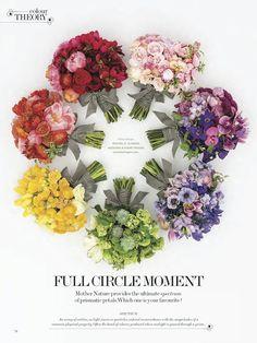 Colourful Bouquets For WedLuxe  Magazine | Rachel A. Clingen Weddings