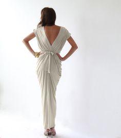 Champagne dress Maxi Dress Bridesmaid Dress by BLUSHFASHION