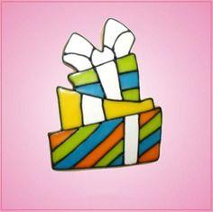 Pink Present Cookie Cutter