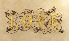 Bronze Vineyard Love Metal Wall Art