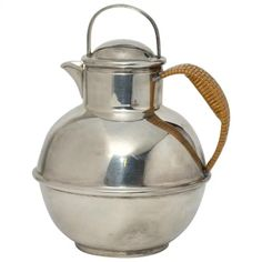 For Sale on - The tea pot has a lid with perforated holes on one side when loose tea leaves are being used. Turn it to the opposite side and there is a cutout for pouring Vintage Plates, Vintage Tea, Vintage Silver, Milk Glass, Milk Jugs, Copper Sheets, Pot Lids, Clay Pots, Traditional Design