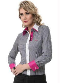 Camisa Feminina Manga Longa Cinza Principessa - Principessa Camisaria f528f9a1e9742