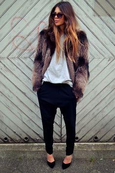 #MajaWyh and that fab fur in Copenhagen.
