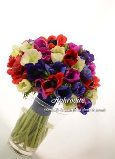 ウエディングブーケ専門ショップ・アフロディーテ(Wedding Bouquet Aphrodite) アネモネのクラッチブーケ