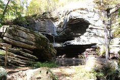 """The Lost Valley trail is located bet. Boxley & Ponca.  The trail itself is beautiful, but once you see the Natural Bridge you immediately have a """"WOW"""" moment.  If you look closely, you can see my husband admiring the scenery."""