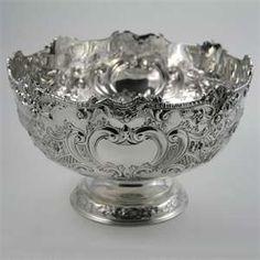 antique silver punch bowls
