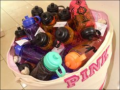 Victoria's Secret Waterbottles in Bulk Go Pink Water Bottle Workout, Go Pink, Pink Brand, Victoria's Secret, Retail, Water Bottles, Visual Merchandising, Stupid, Fun Stuff