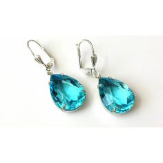 Aquamarine Drop Earrings Aquamarine Teardrop Earrings Blue Rhinestone... ($23) ❤ liked on Polyvore featuring jewelry, earrings, aquamarine, artistinjewelry, bridal, drop earrings, teardrop bridal earrings, rhinestone teardrop earrings, bridal earrings and earring jewelry