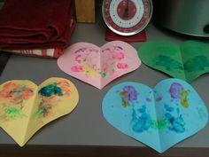 Glittery heart hangings