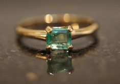 Petite Colombian Eme - January 26 2019 at Antique Jewelry, Vintage Jewelry, 10k Gold Ring, Colombian Emeralds, Brighton Jewelry, Pretty Rings, Opal Rings, Modern Jewelry, Fine Jewelry