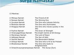 surya namaskar mantras with meaning sun salutation