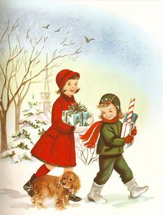 Vintage 1960 greeting card `Love this !!   I was 7 months old that Christmas !        ha guess I am vintage now