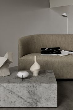 MENU - a stylish minimalist living room setting in beige, concrete and marble Modern Interior, Interior Styling, Interior Design, Living Room Sets, Living Spaces, Minimalist Living, Home Living, Layout, Interior Inspiration