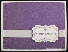 Elegant Birthday Card Idea - Ink It Up! with Jessica | Card Making Ideas | Stamping Techniques