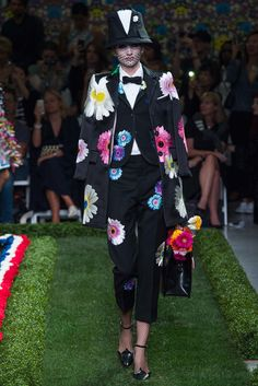"Spring 2015 Trends / Nostalgia for the early 1970s dominated the runways this season, but the Spring fashion message went beyond ""make love, not war."" / Thom Browne"
